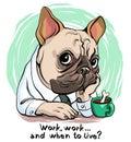 Funny bulldog portrait Royalty Free Stock Photo