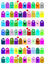 Vector illustration funny jelly love oval Royalty Free Stock Photo