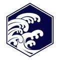Vector illustration Giant Tsunami Wave
