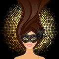 Vector illustration girl mask Royalty Free Stock Images