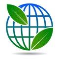 Globe leaf logo on white