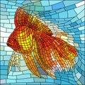 Vector illustration of gold fish. Royalty Free Stock Photo