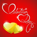 Vector illustration golden heart valentine s background Royalty Free Stock Photo