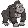 Vector illustration gorilla cartoon Royalty Free Stock Images
