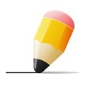 Vector illustration of graphite pencil isolated on white background Royalty Free Stock Photography
