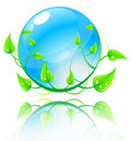 Vector illustration green and blue concept. Royalty Free Stock Images
