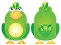 Vector illustration of a green parrot bird hand puppet character Royalty Free Stock Photos