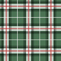 Vector illustration of green and red tartan fabric pattern Stock Images