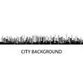 Vector illustration of grey panorama city background