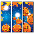 Vector illustration of halloween banners Stock Photography