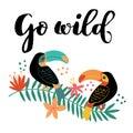 Go Wild Toucan on Branch