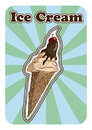 Vector illustration of a hand drawn ice cream