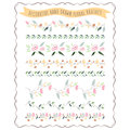 Vector illustration of hand drawn pastel flower and floral brush brushes in flat design style as a template for invitations Stock Images