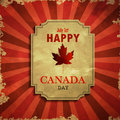 Vector illustration of Happy Canada Day.