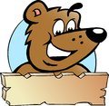 Vector illustration of an Happy Proud Brown Bear Stock Images