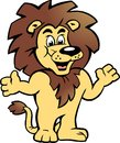 Vector illustration of an Happy Proud Lion King Stock Image