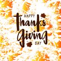 Happy Thanksgiving day for invitation, greeting card, postcard, typography poster.