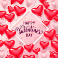 Vector illustration of happy valentines day card