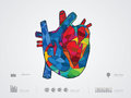 Vector illustration of heart Royalty Free Stock Photo