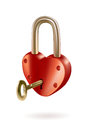 Vector illustration heart lock key Stock Photo