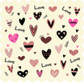 Vector Illustration of  hearts Royalty Free Stock Photo