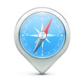 Vector illustration highly detailed blue compass as map location pointer icon Royalty Free Stock Photography