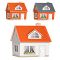 Vector illustration of highly detailed house icons Stock Image