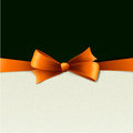 Vector illustration holiday background orange bow Royalty Free Stock Photos