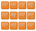 Vector illustration of the horoscope icon sign Royalty Free Stock Photography