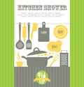 Vector illustration i love cook card design Stock Photo
