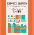 Vector illustration i love cook card design Royalty Free Stock Photos