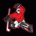 Vector illustration of ice hockey goalie Royalty Free Stock Photo
