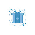 Vector illustration of icon shopping concept bounty or gift in line style.