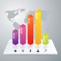 Vector illustration infographic five options Royalty Free Stock Photo