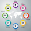 Vector illustration infographics eight options Royalty Free Stock Image