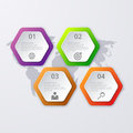 Vector illustration infographics four hexagon
