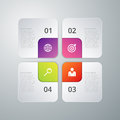 Vector illustration infographics four options Stock Photography