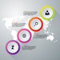Vector illustration infographics four options Royalty Free Stock Photo