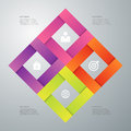 Vector illustration infographics four options Stock Image