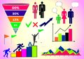Vector illustration with infographics: people, business, Finance, graphs and charts, and various figures