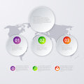 Vector illustration infographics three circles Royalty Free Stock Photo