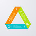 Vector illustration infographics triangle divided into sectors Royalty Free Stock Photography