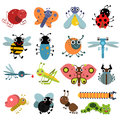 Vector illustration of insects and bugs. Characters set