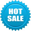Hot sale seal stamp blue Royalty Free Stock Photo