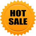 Hot sale seal stamp orange Royalty Free Stock Photo