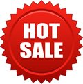 Hot sale seal stamp red Royalty Free Stock Photo