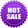 Hot sale seal stamp violet Royalty Free Stock Photo