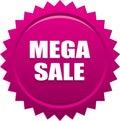 Mega sale seal stamp badge pink Royalty Free Stock Photo