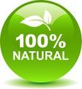Natural organic web button green Royalty Free Stock Photo