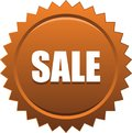 Sale seal stamp badge brown Royalty Free Stock Photo